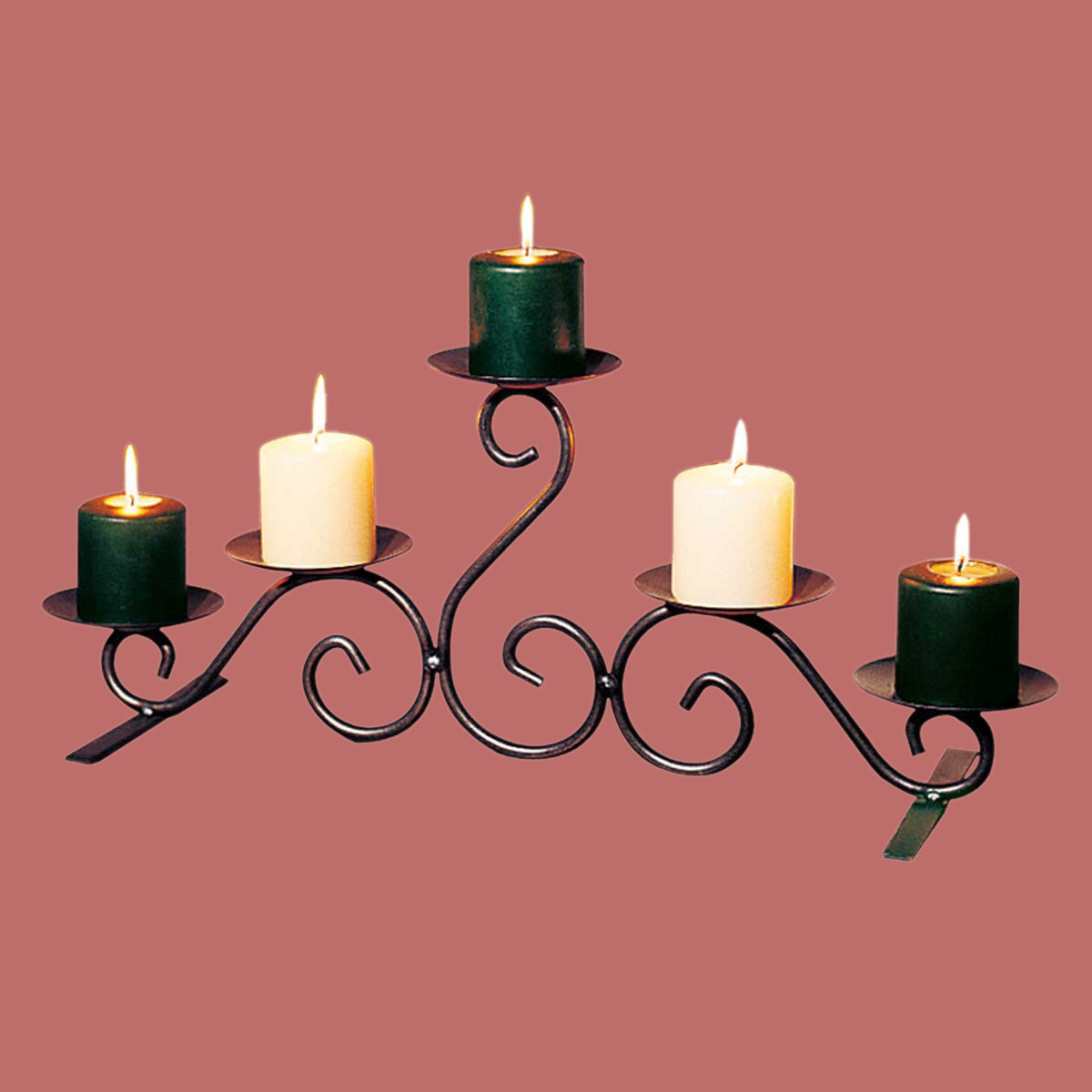 Candle Holders Black Wrought Iron 10 Quot H