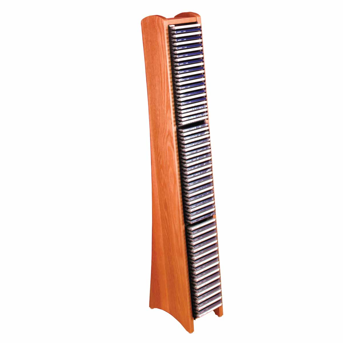 Modern 75 cd rack light oak solid wood media storage
