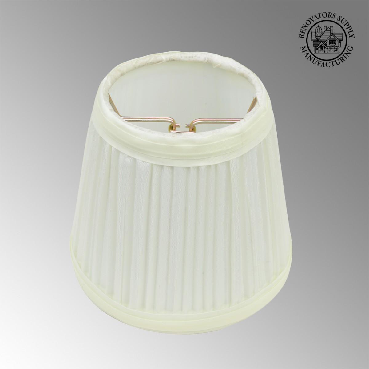 lamp shade eggshell white fabric 4 1 2 mini drum clip on. Black Bedroom Furniture Sets. Home Design Ideas