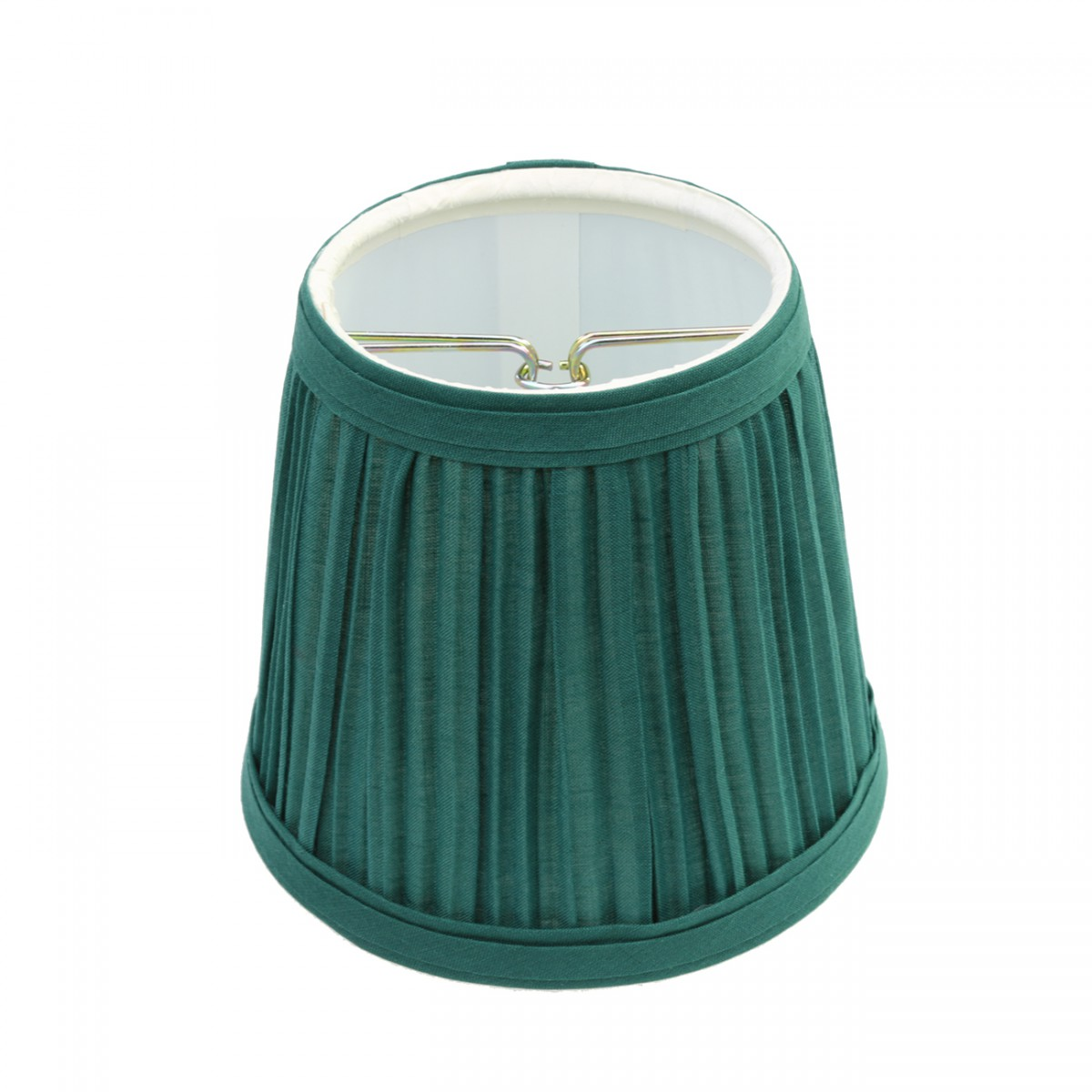 lamp shade hunter green fabric 4 1 16 h mini clip on. Black Bedroom Furniture Sets. Home Design Ideas